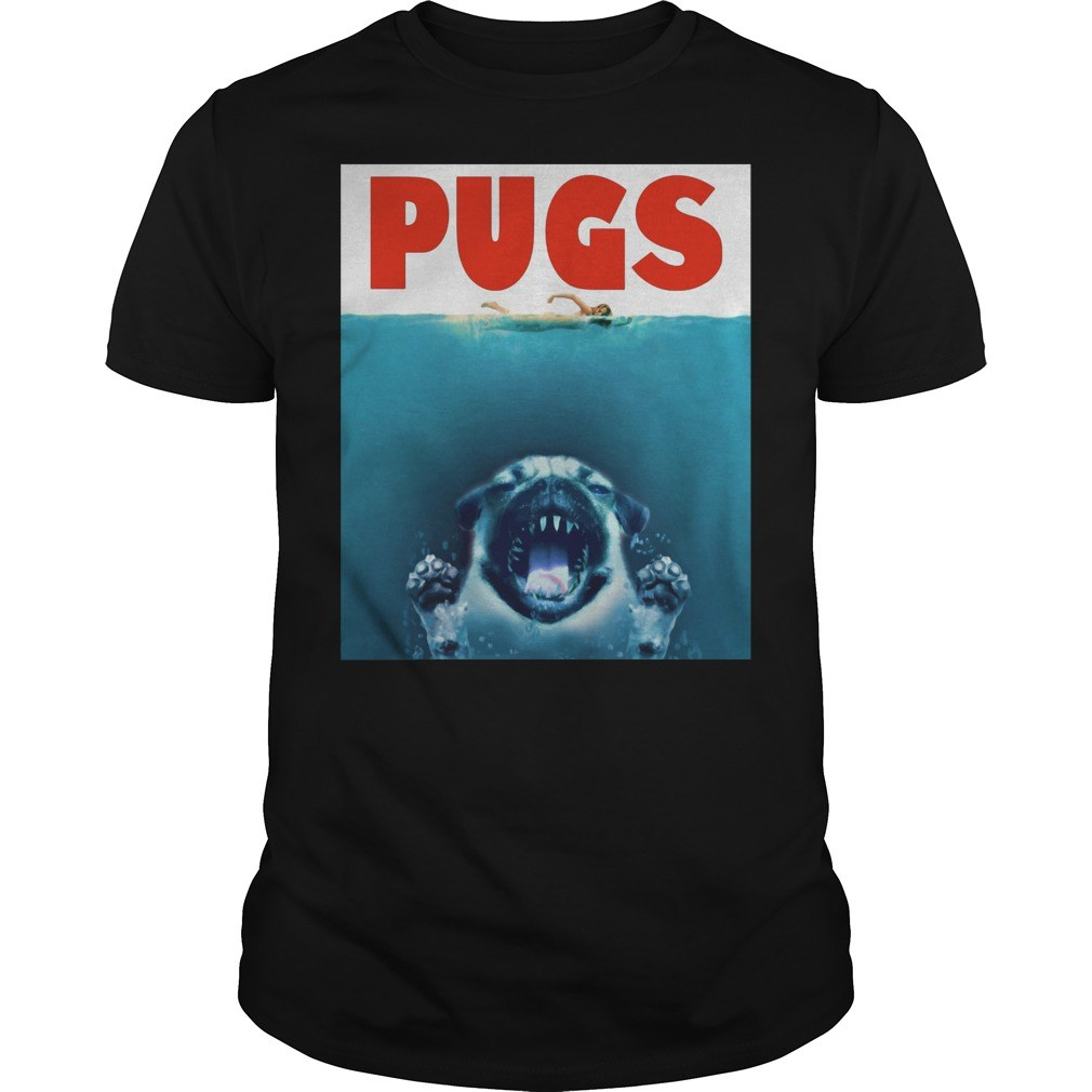 A Pugs Jaws Shark Shirt