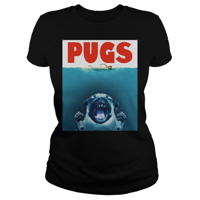 A Pugs Jaws Shark ladies Shirt