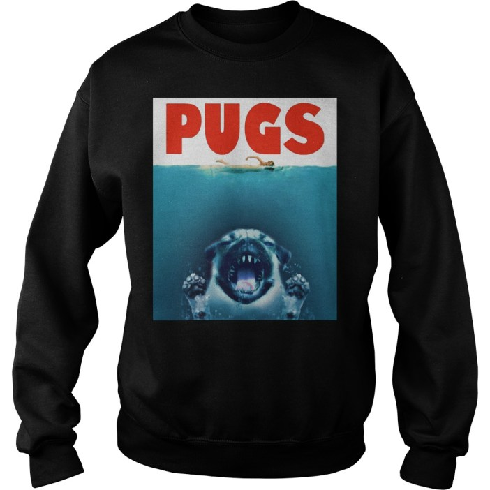A Pugs Jaws Shark Sweater
