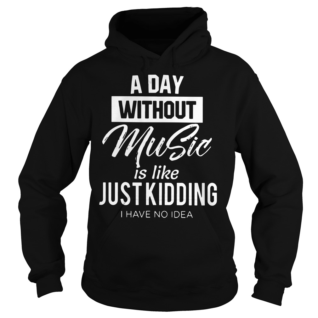A day without music is like just kidding I have no idea hoodie