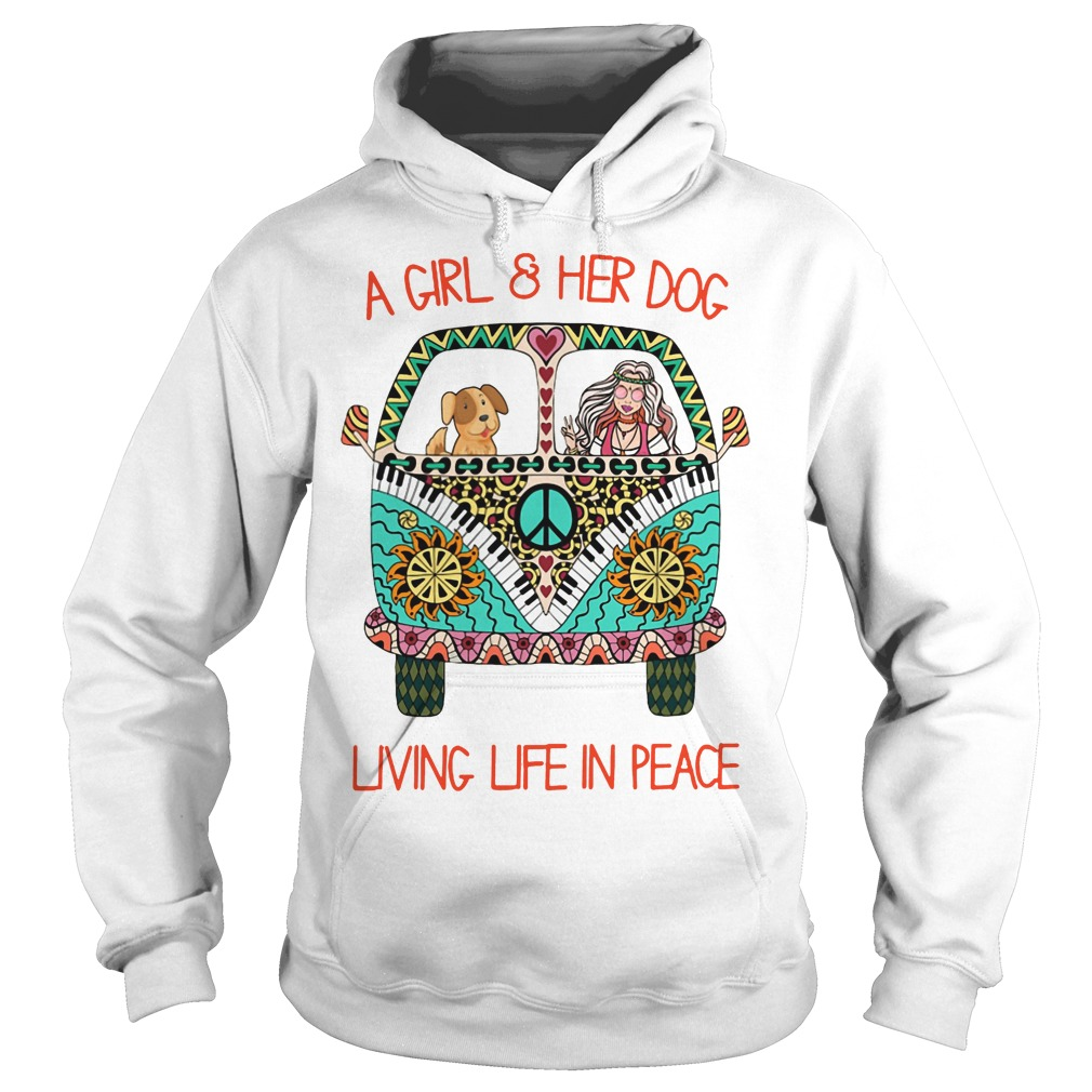 A girl and her dog living life in space hoodie