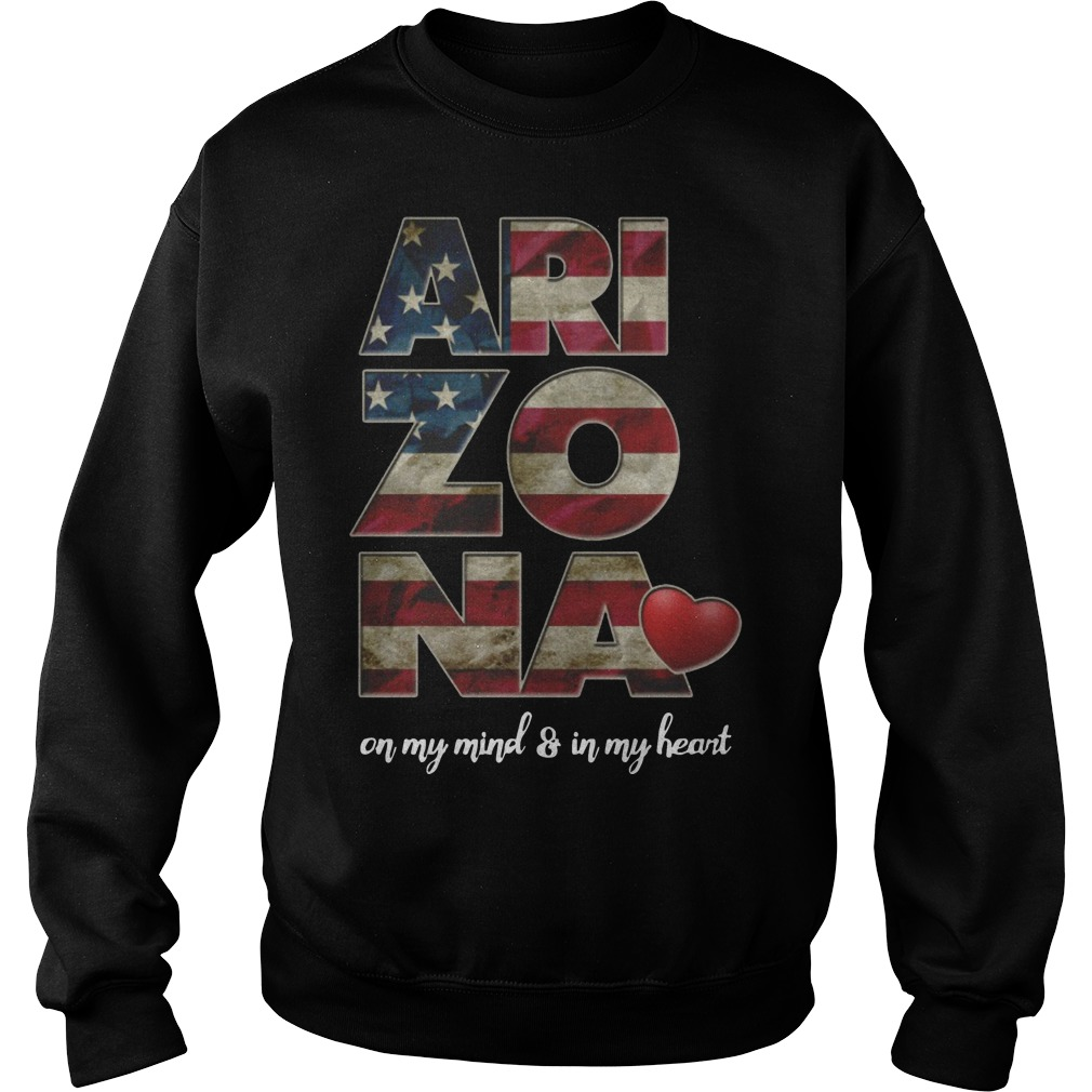 Arizona on my mind and in my heart sweater