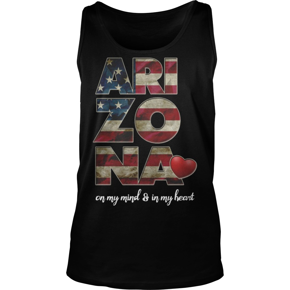 Arizona on my mind and in my heart tank top