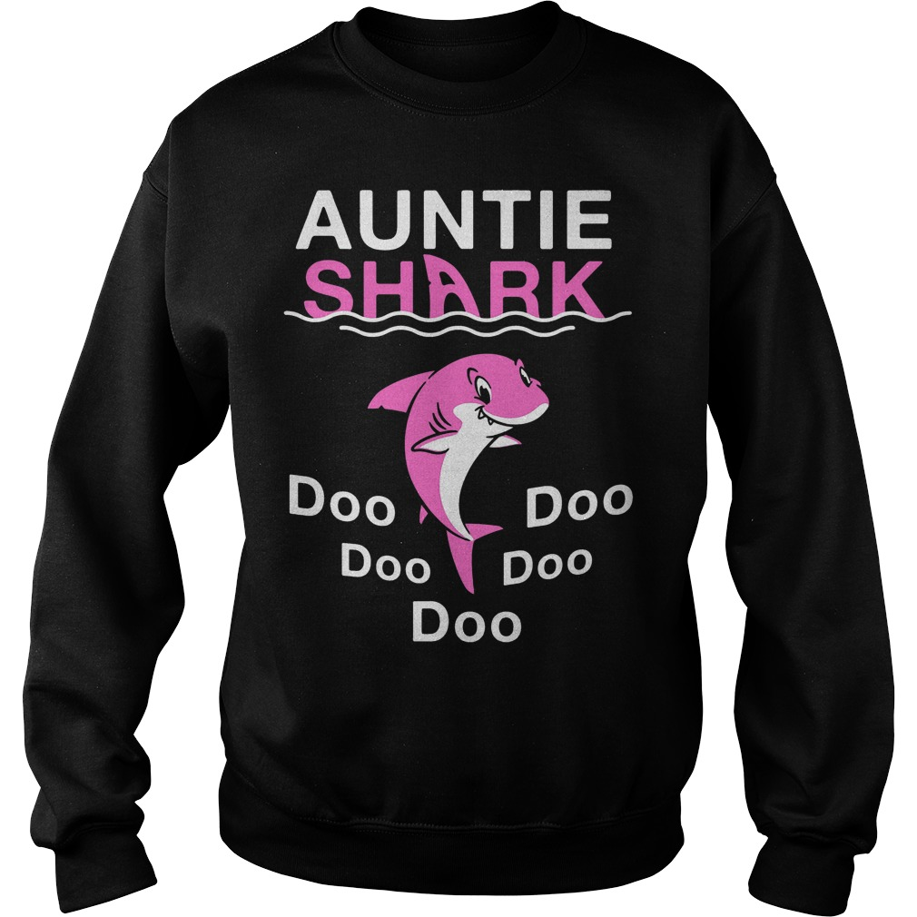 Auntie Shark Doo Doo Doo Doo Doo sweater version 2