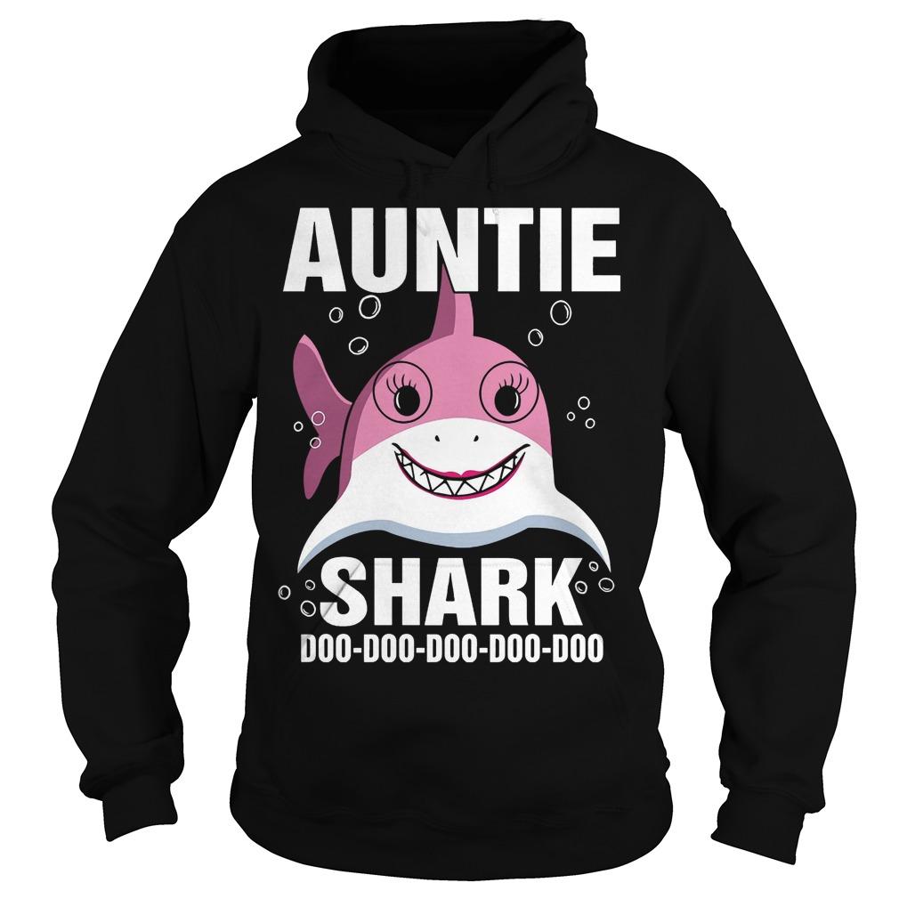 Auntie Shark doo doo doo doo doo hoodie