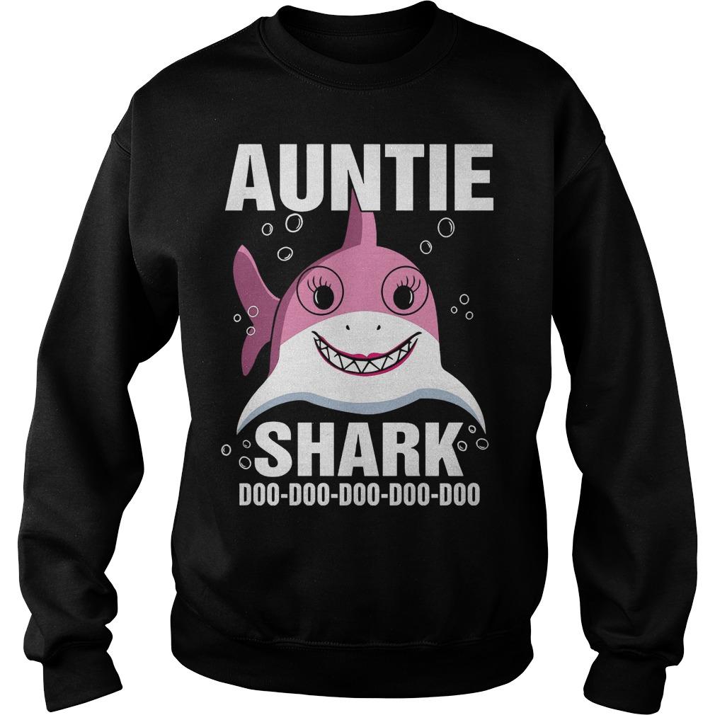 Auntie Shark doo doo doo doo doo sweater