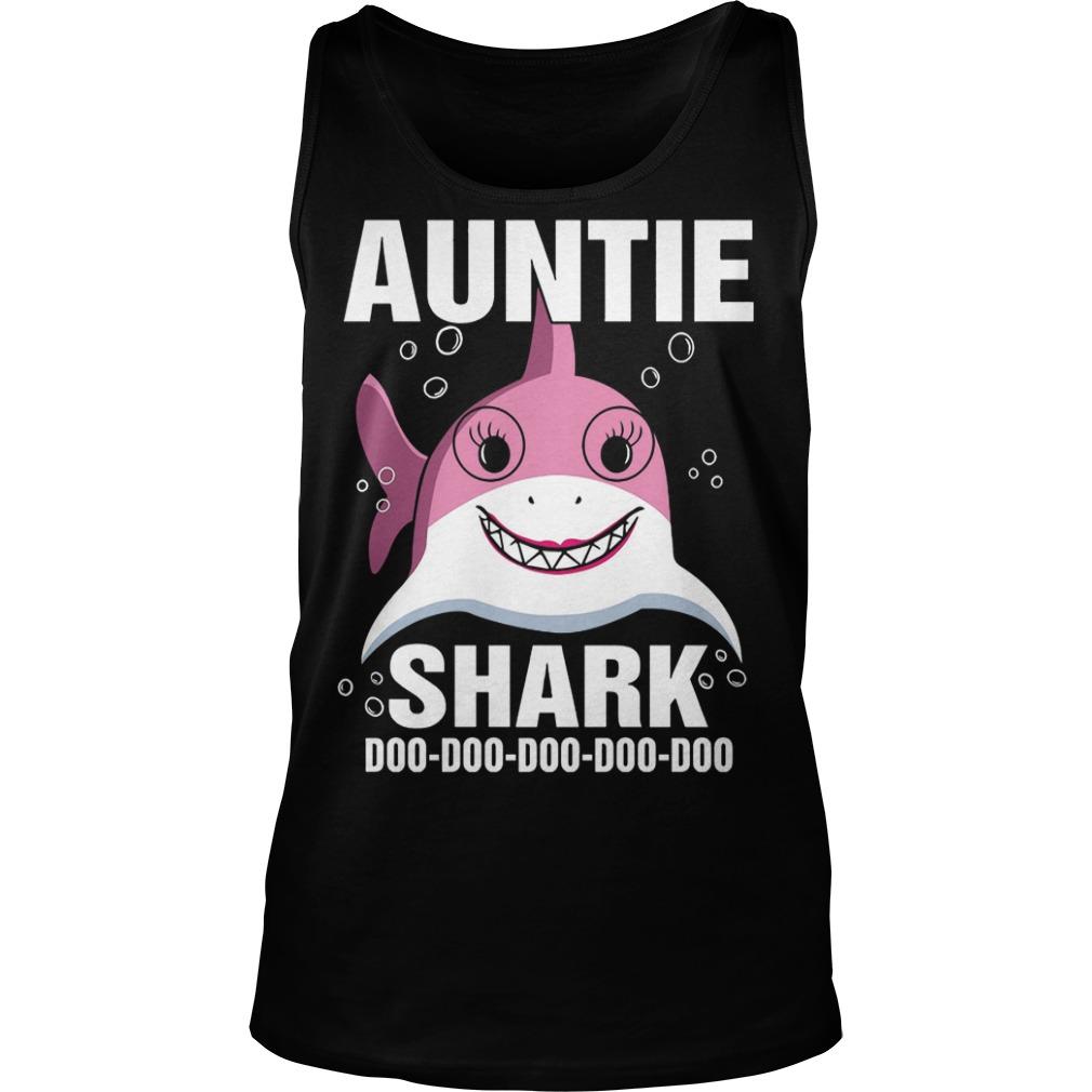 Auntie Shark doo doo doo doo doo tank top