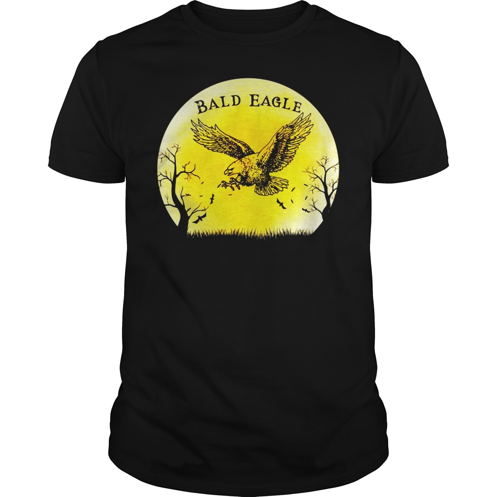 Bald Eagle Halloween Vintage Retro Moon shirt