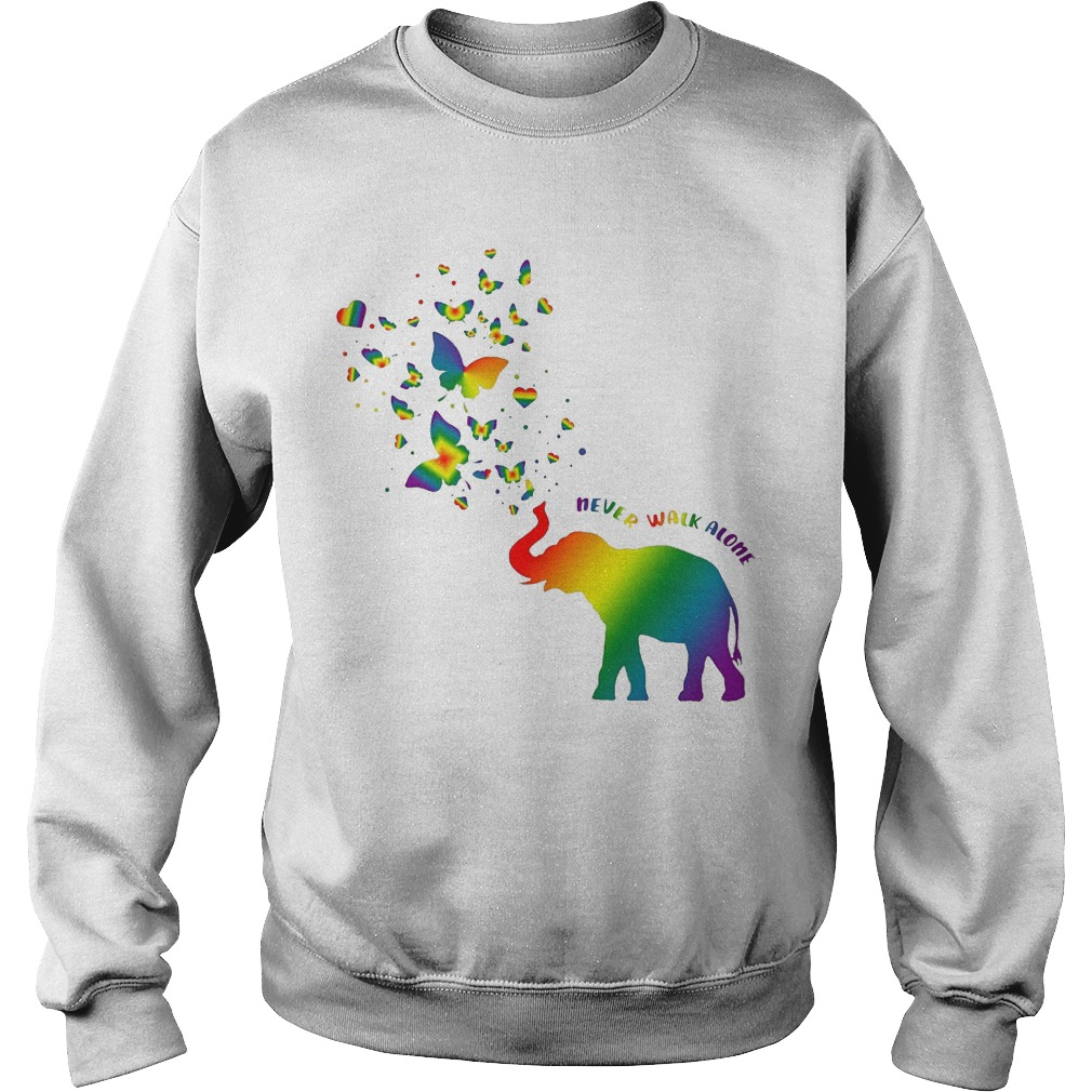 Butterfly and Elephant never walk alone Autism sweater