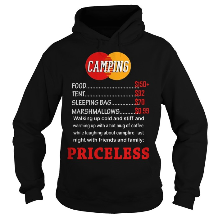 Camping priceless hoodie