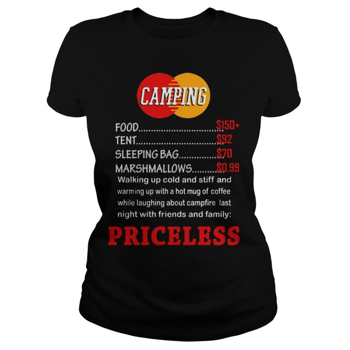 Camping priceless ladies shirt