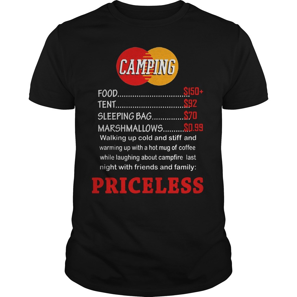 Camping priceless shirt