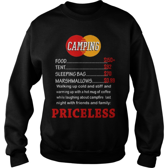 Camping priceless sweater