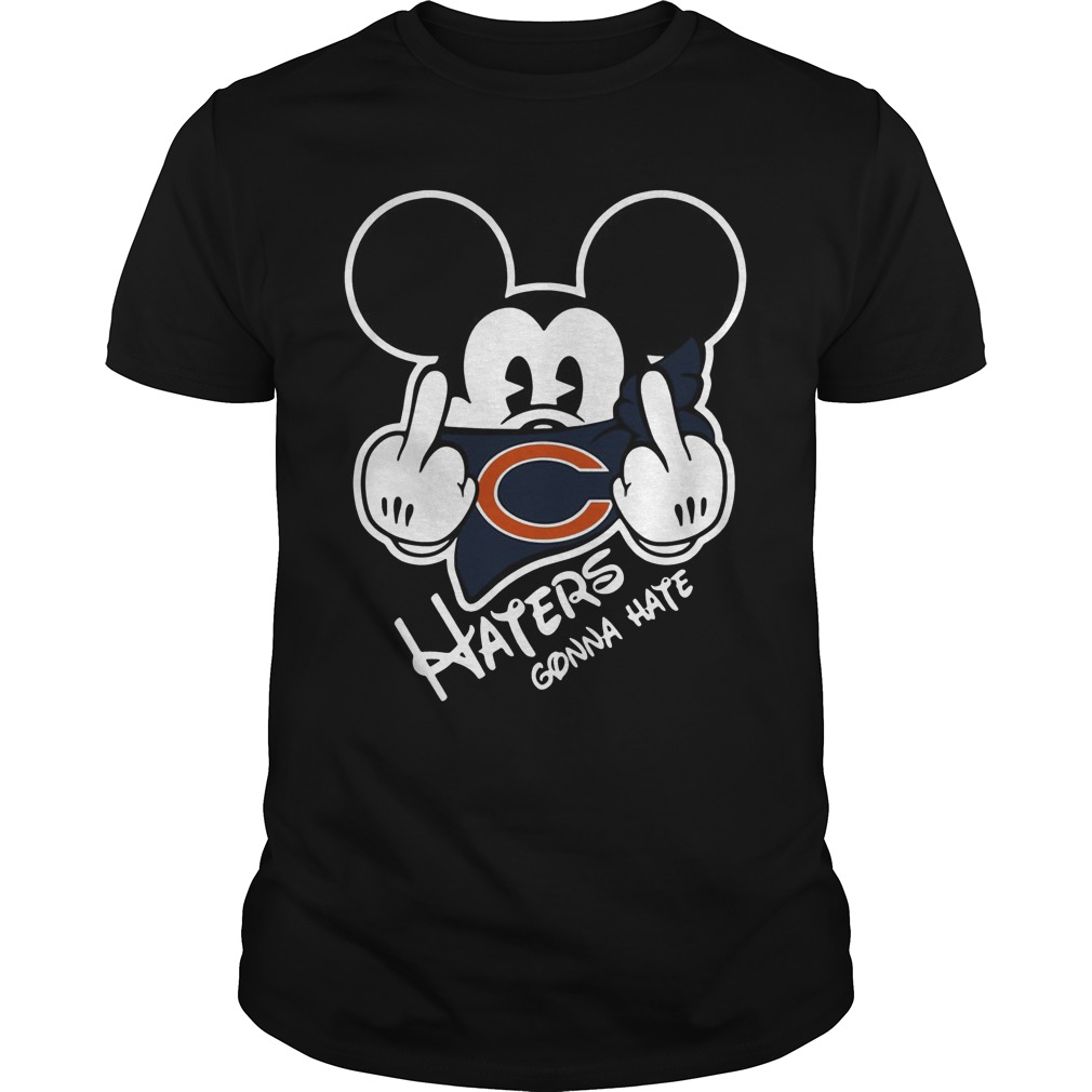 Chicago Bear Haters Gonna Hate Mickey Mouse Shirt