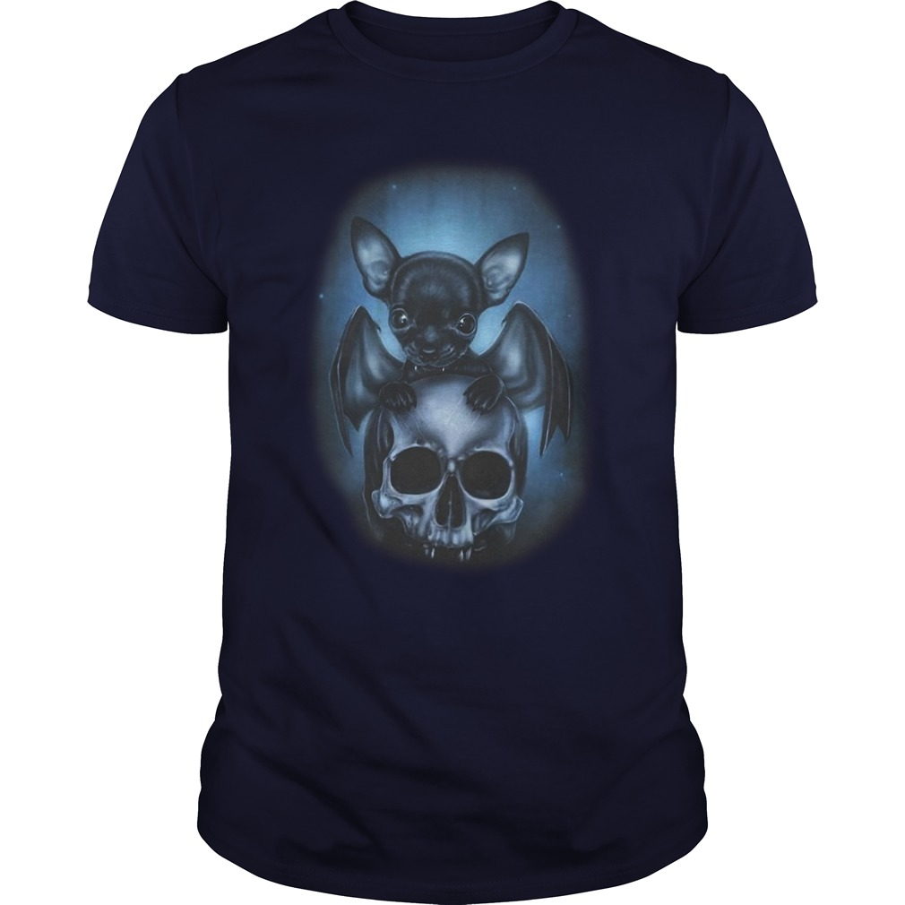 Chihuahua and skull Halloween shirt