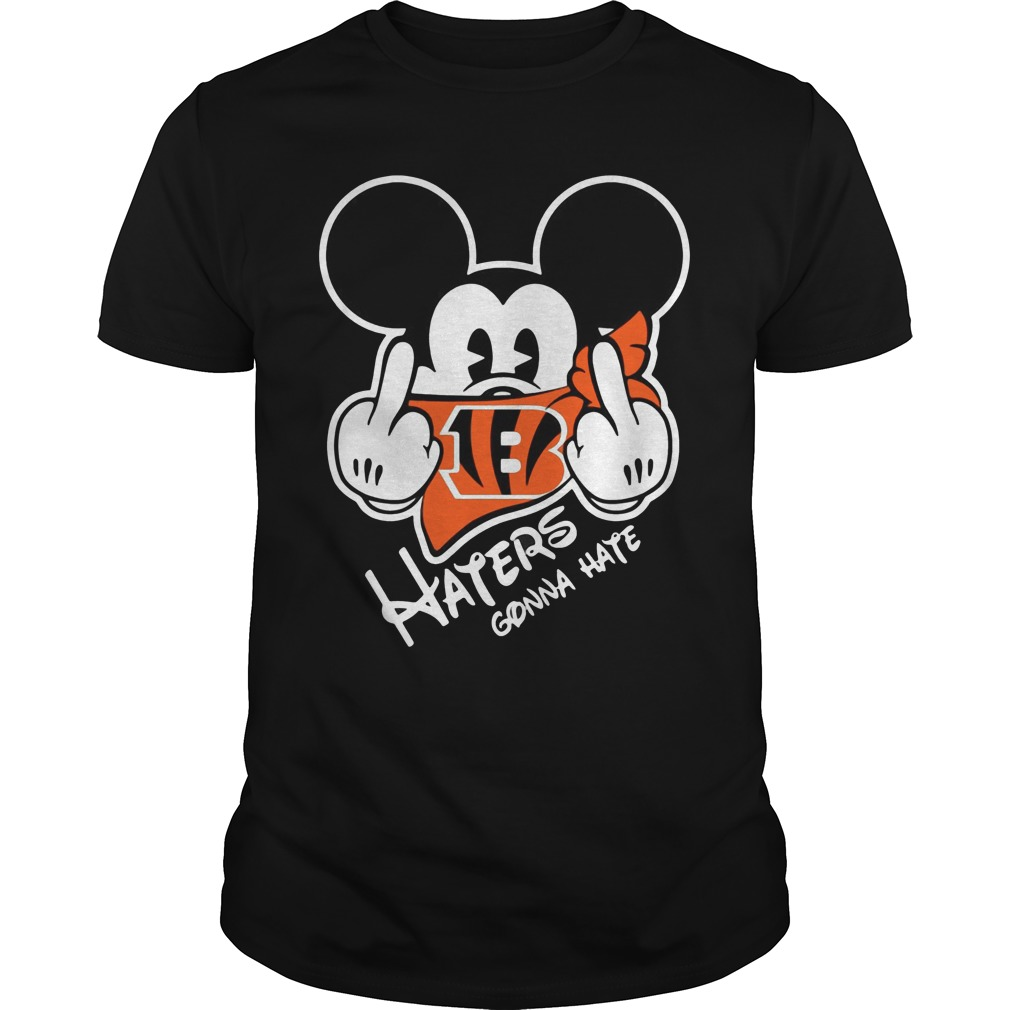 Cincinnati Bengals Haters Gonna Hate Mickey Mouse Shirt