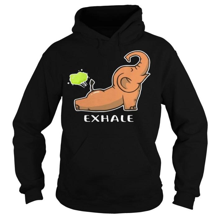 Exhale Elephant Yoga hoodie