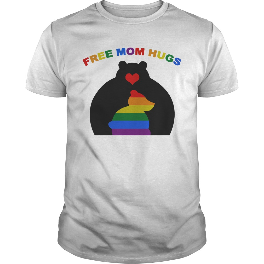 Free Mom Hugs Mama Bear LGBT Bear shirt