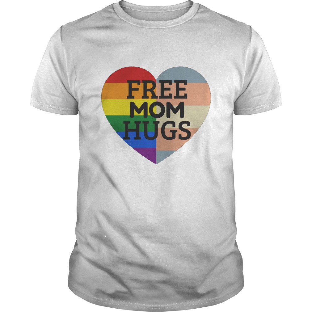 Free Mom hugs heart LGBT shirt