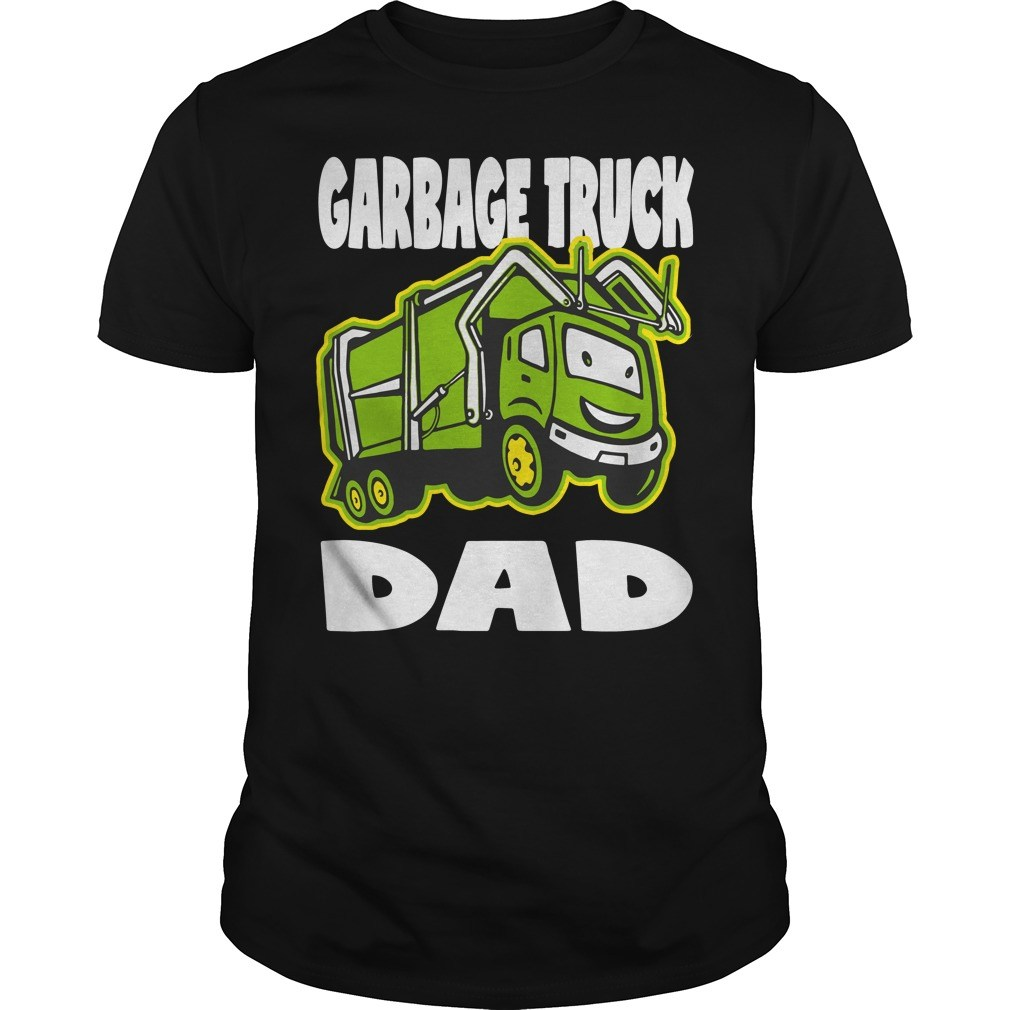 Garbage truck dad vintage father monster shirt
