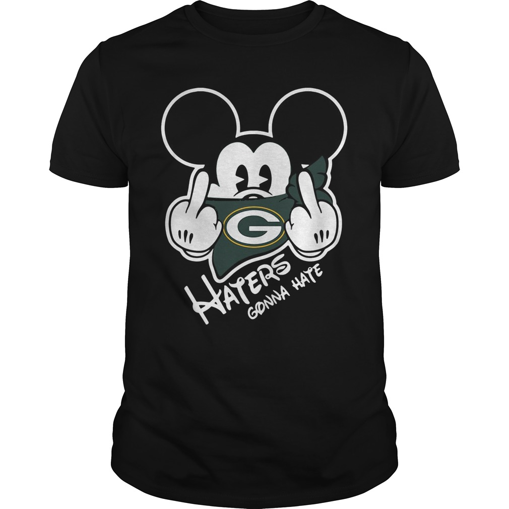 Green Bay Packers Haters Gonna Hate Mickey Mouse shirt