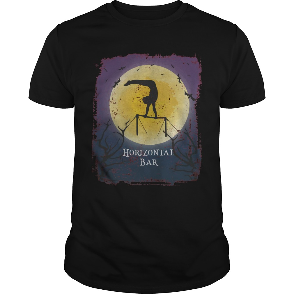 Gymnastic horizontal bar Halloween vintage art gymnastics shirt