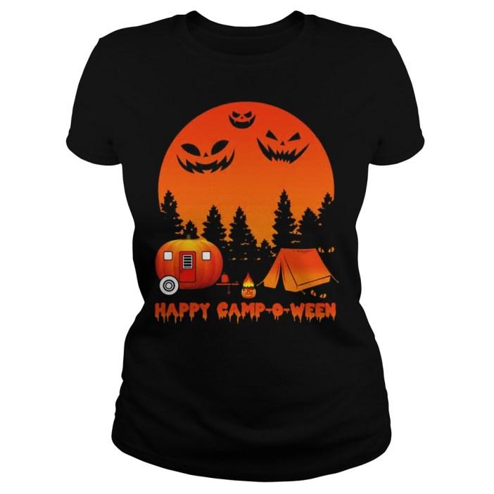 Happy Camp O Ween Camping Halloween ladies Shirt