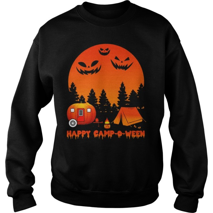 Happy Camp O Ween Camping Halloween Sweater