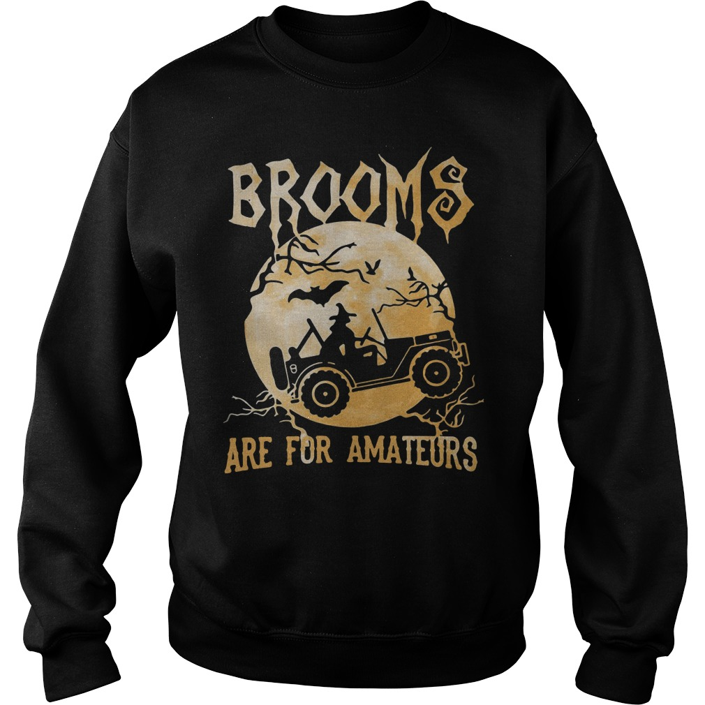 Jeep Halloween Brooms Are For Amateurs sweater