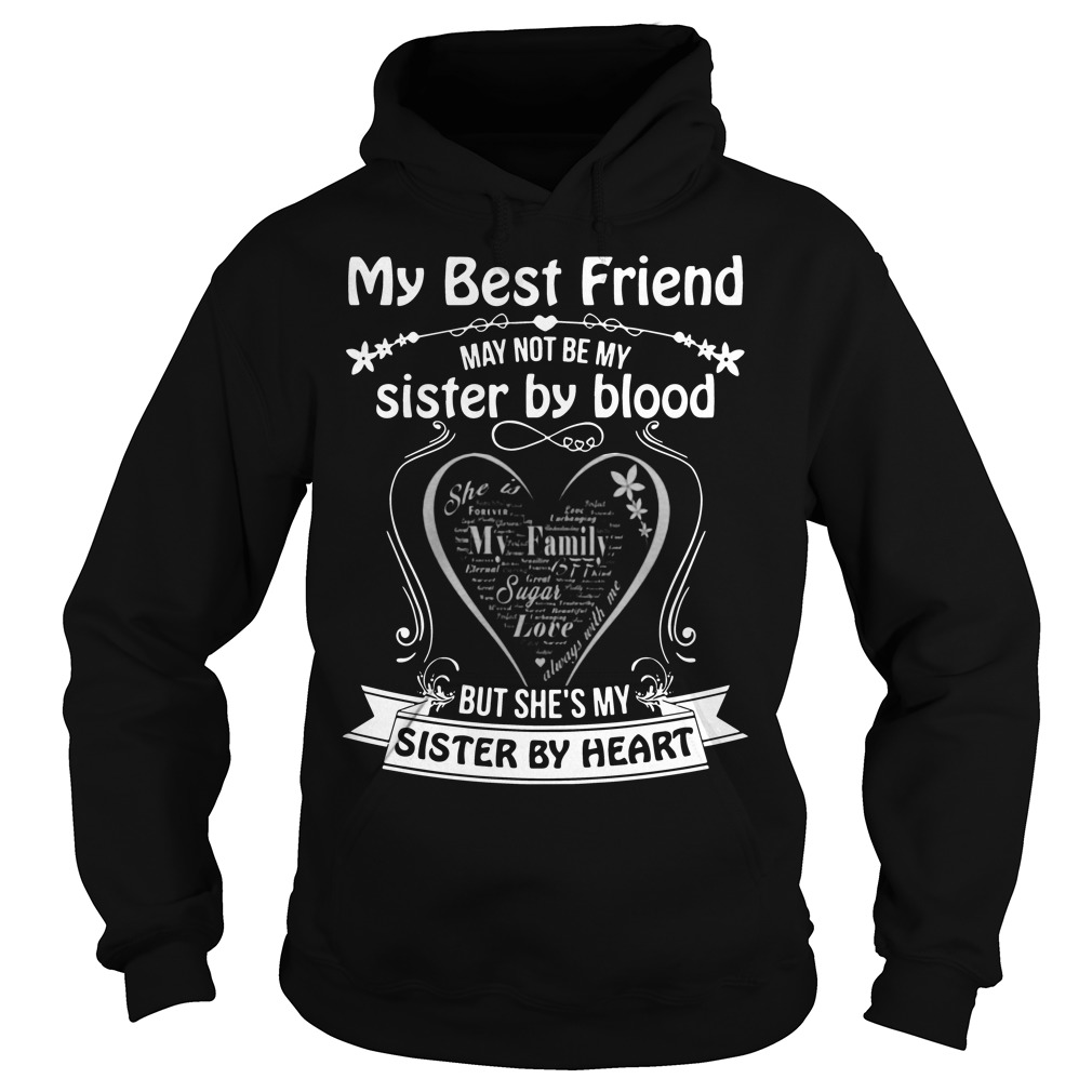 My best friend may not be my sister by blood but she's my sister my heart Hoodie