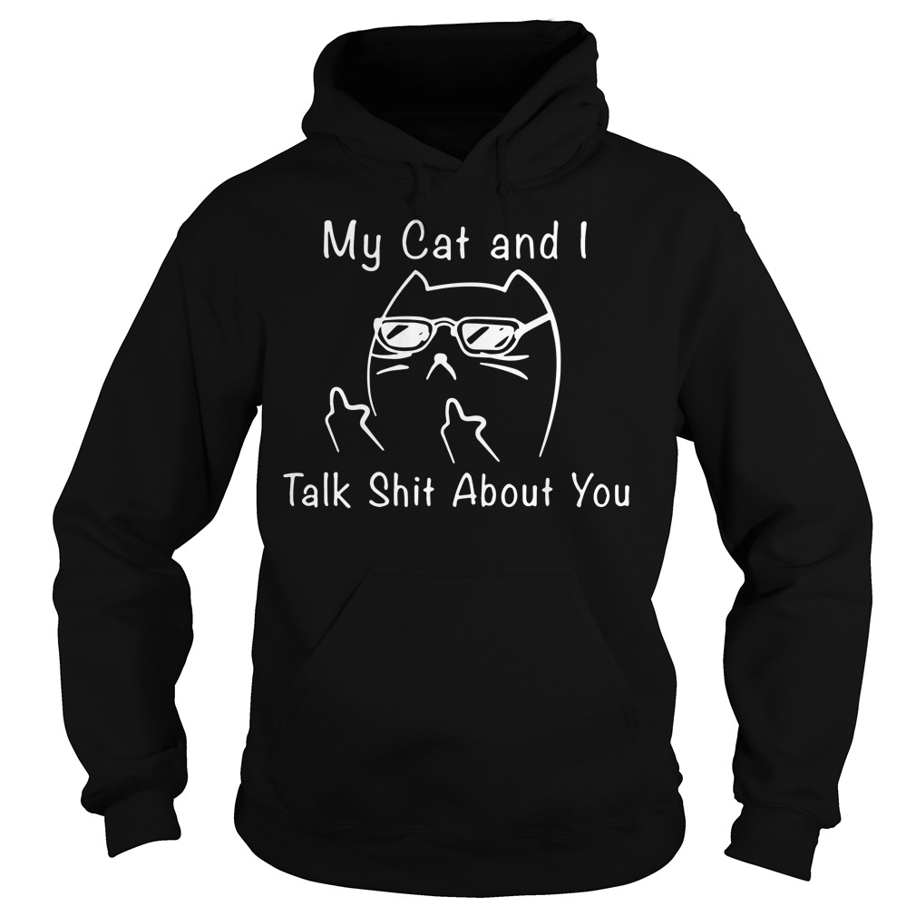 My cat I talk shit about you hoodie