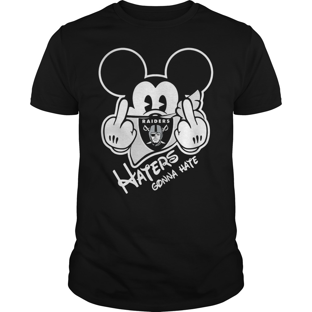 Oakland Raiders Haters Gonna Hate Mickey Mouse shirt