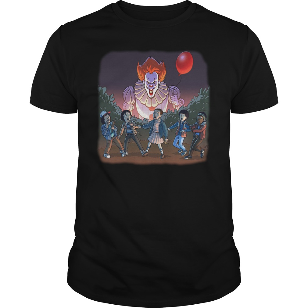 Pennywise and Stranger things shirt
