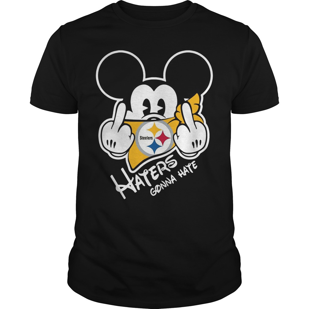 Pittsburgh Steelers Haters Gonna Hate Mickey Mouse shirt