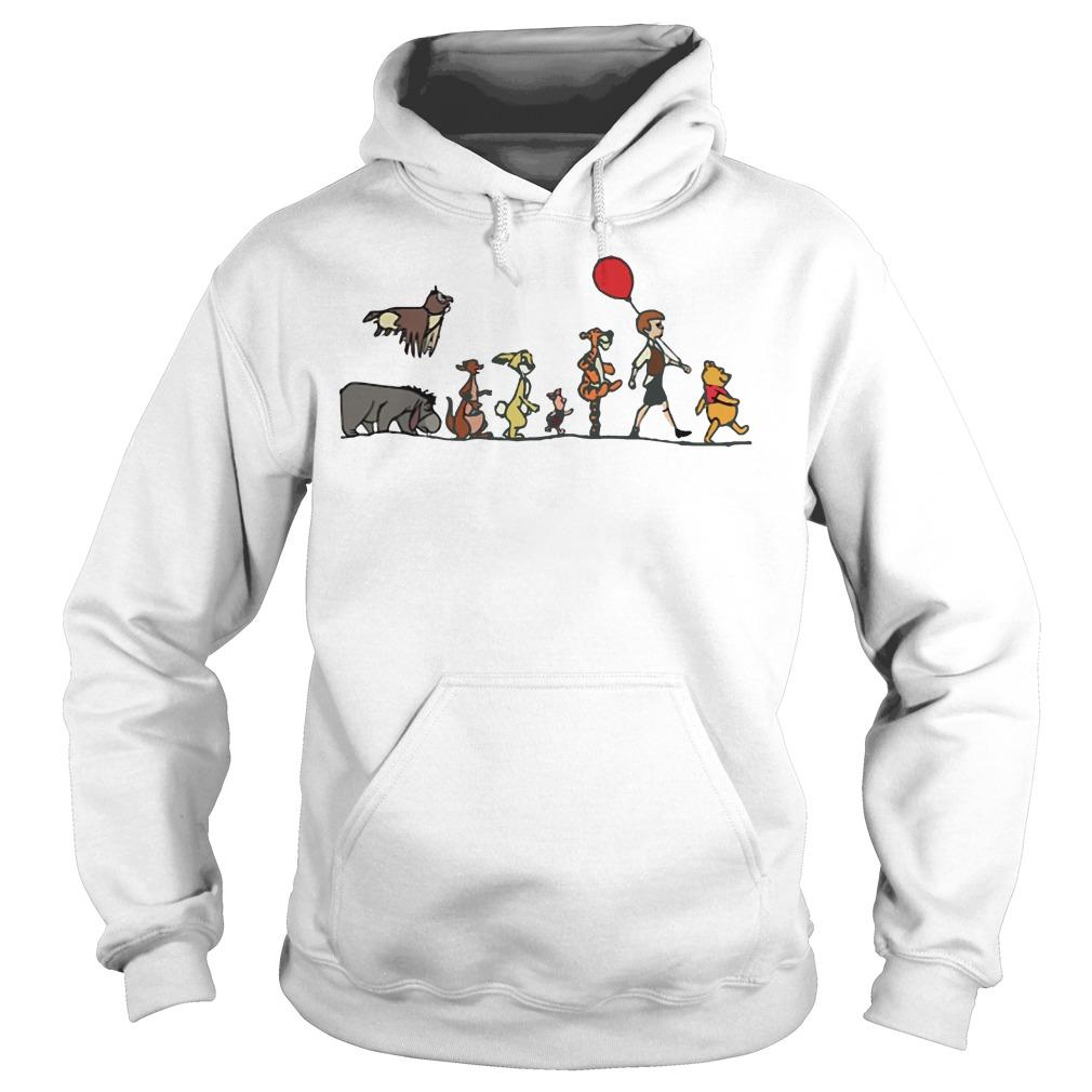 Pooh, Christopher Robin, Tigger, Piglet, Rabbit, Kanga, Eeyore, Kessie hoodie