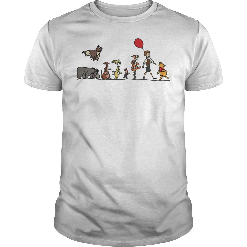 Pooh, Christopher Robin, Tigger, Piglet, Rabbit, Kanga, Eeyore, Kessie shirt