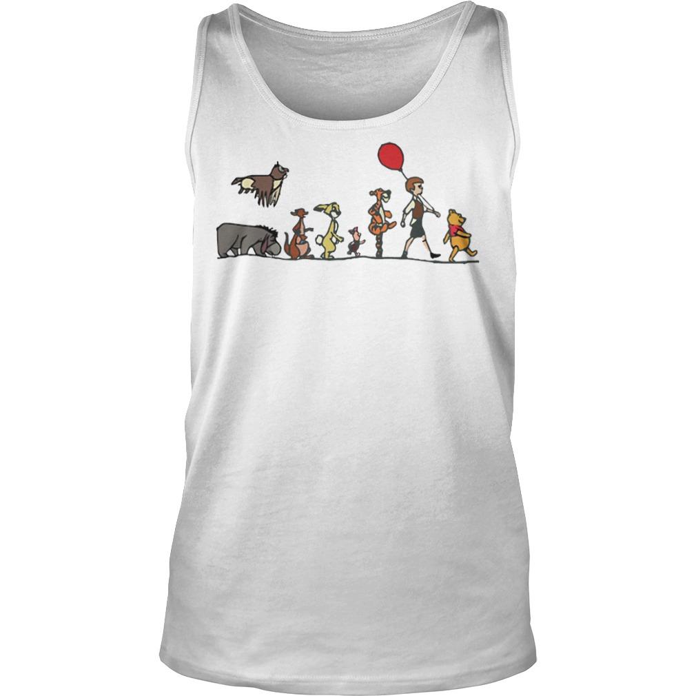 Pooh, Christopher Robin, Tigger, Piglet, Rabbit, Kanga, Eeyore, Kessie tank top
