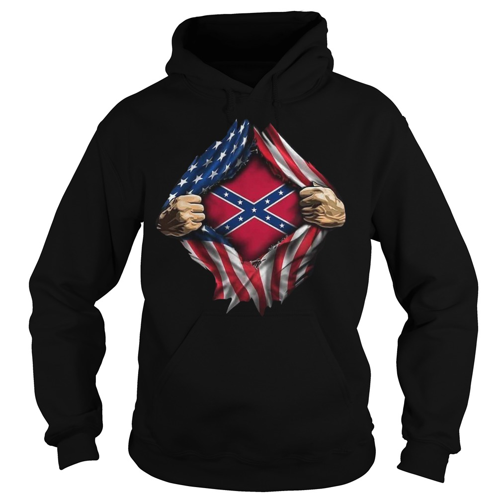Rebel Flag blood inside me hoodie
