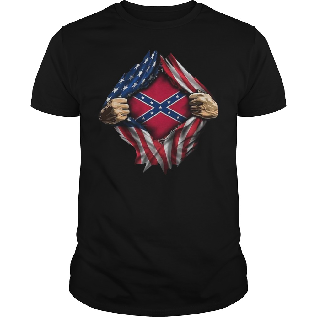 Rebel Flag blood inside me shirt