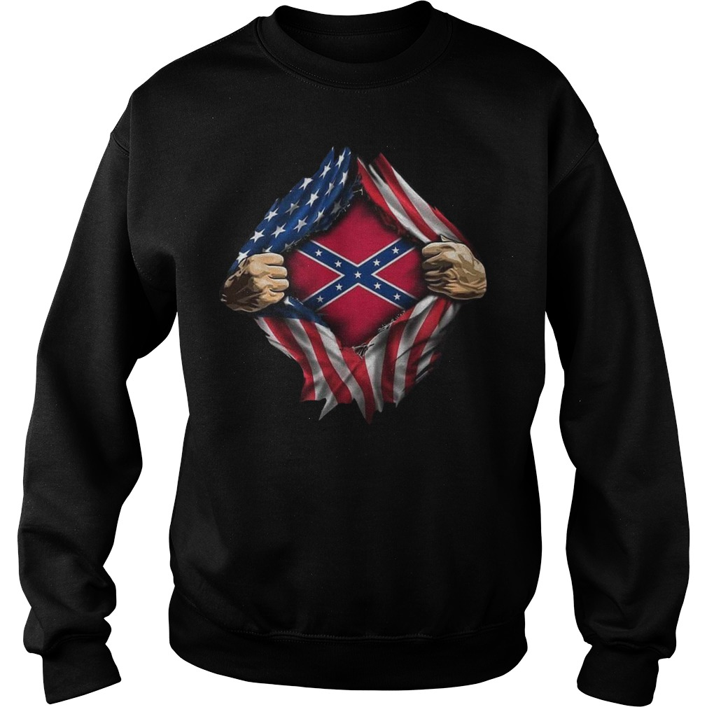 Rebel Flag blood inside me sweater