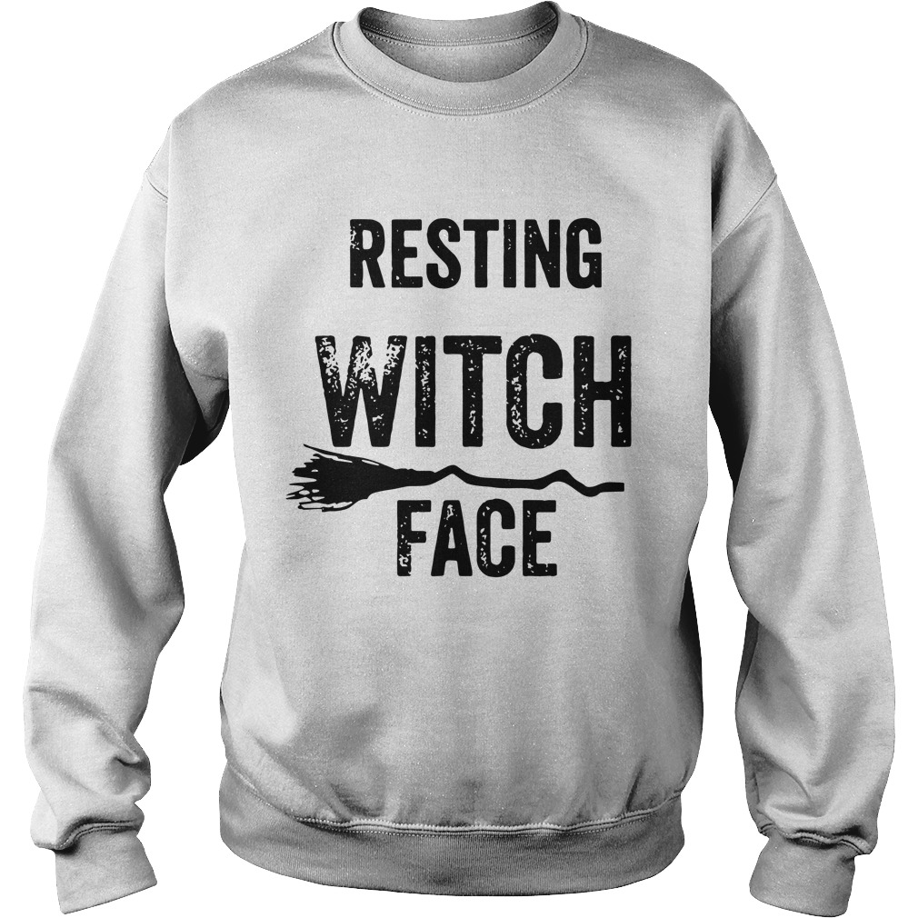 Resting Witch Face Halloween Sweater