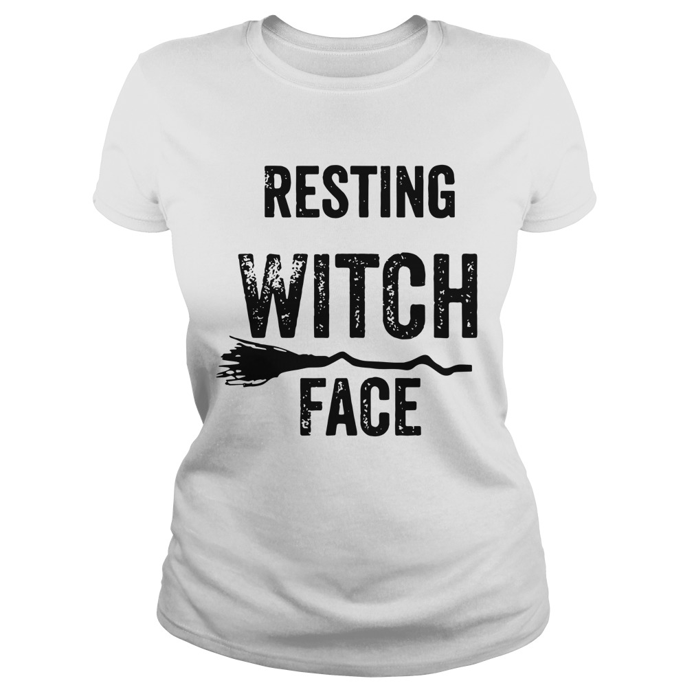 Resting Witch Face Halloween ladies shirt