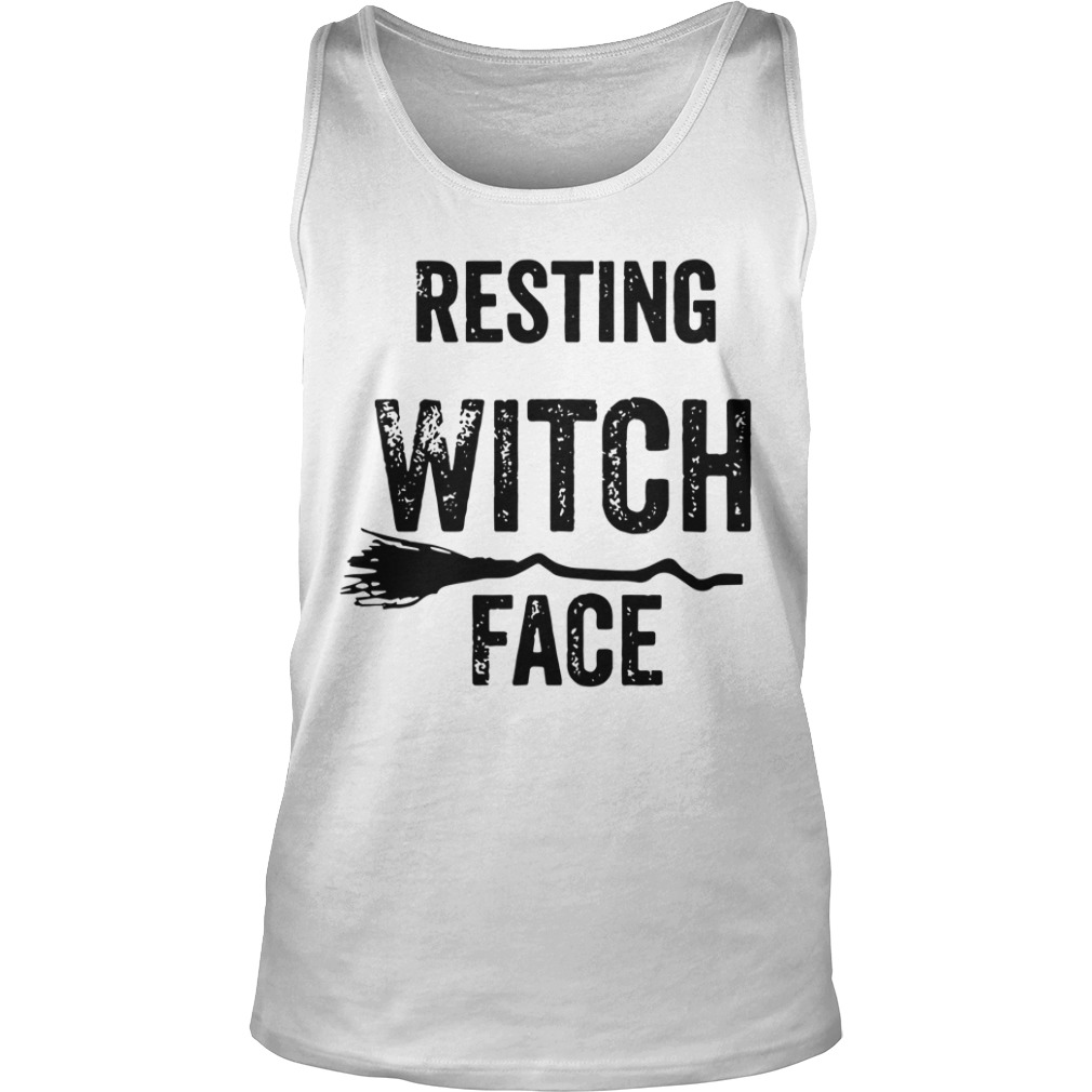 Resting Witch Face Halloween tank top