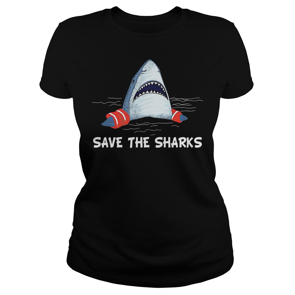 Save the sharks ladies tee