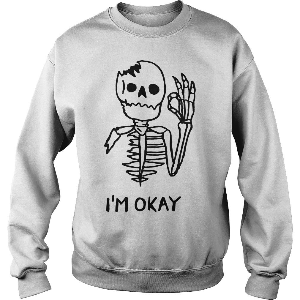 Skull I'm okay sweater