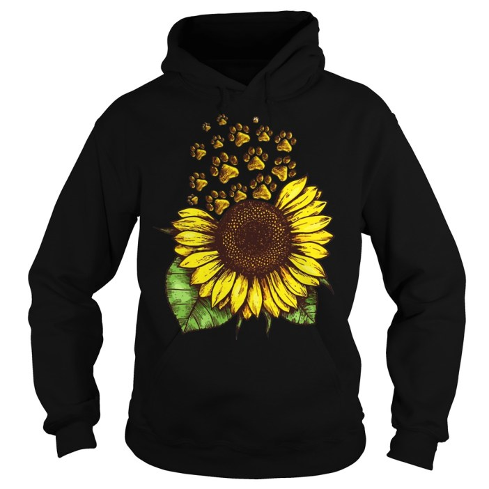 Sunflower Dog Paw hoodies