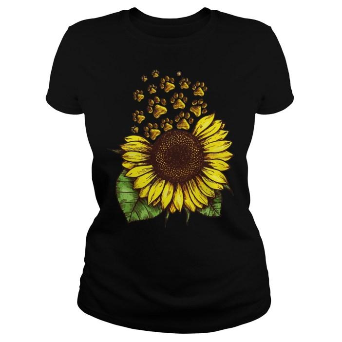 Sunflower Dog Paw ladies shirt