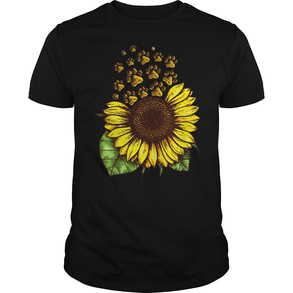 Sunflower Dog Paw shirt