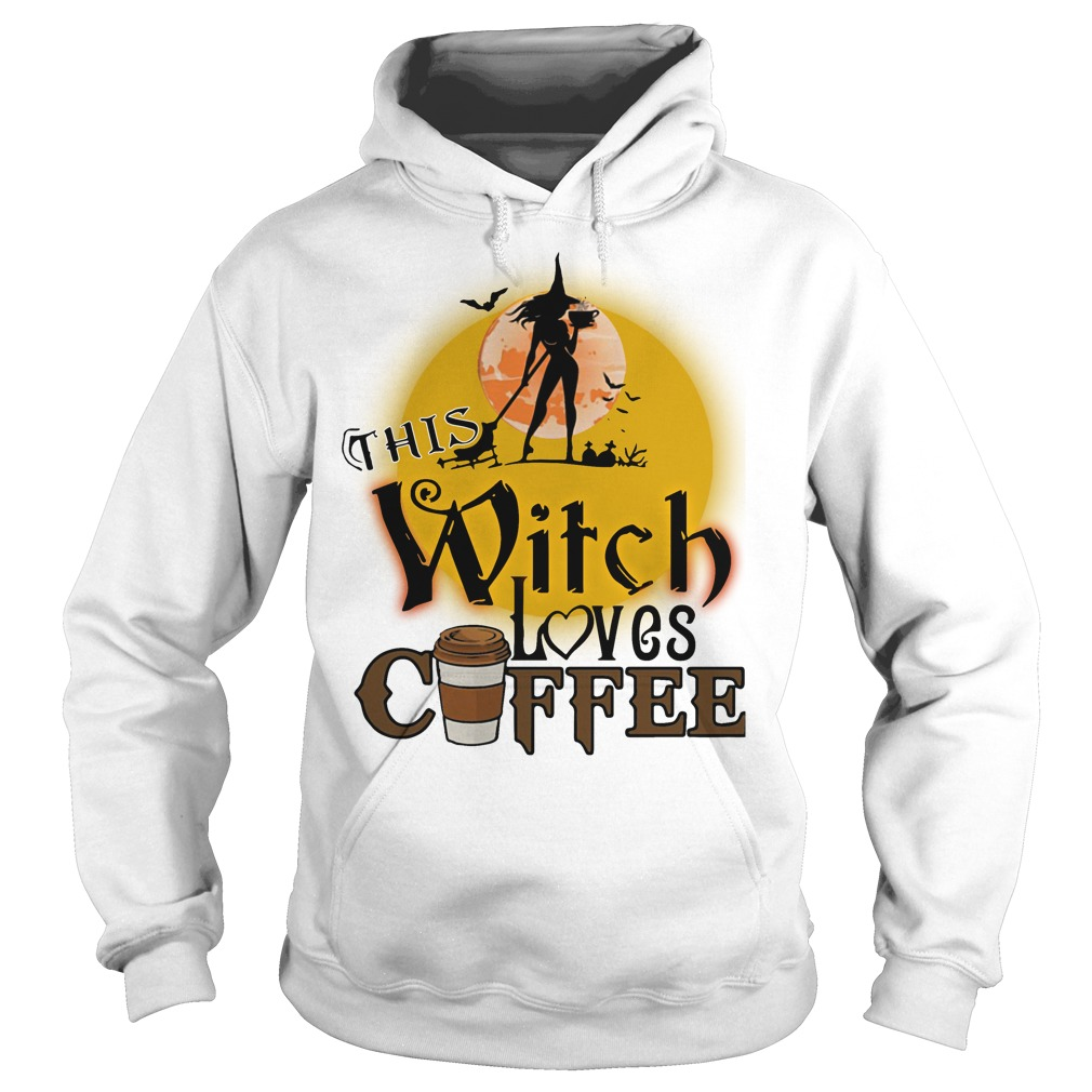 This witch loves coffee Halloween hoodie