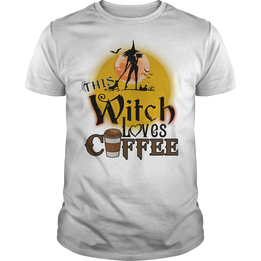 This witch loves coffee Halloween shirt